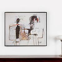 "Berberian: Tristan in Isolt, Digital Print, Image Dims. 36"" x 45.25"", Framed Dims. 38"" x 46.5"""