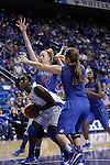 UK forward/center Samarie Walker goes for a basket during the second half of the women's basketball game v. Depaul University in Rupp Arena in Lexington, Ky., on Sunday, December 7, 2012. Photo by Genevieve Adams | Staff