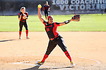 19 February 2017: Ohio State's Lena Springer. The Ohio State University Buckeyes played the University of Louisville Cardinals at Anderson Family Softball Stadium in Chapel Hill, North Carolina as part of the ACC/Big 10 College Softball Challenge. OSU won the game 4-3.