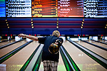 Russell Nicolls bowls at the National Bowling Stadium in Reno, Nevada, July 5, 2012.