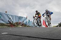 Philippe Gilbert (BEL/Quick Step floors) & Tom Boonen (BEL/Quick-Step Floors) having fun at the Tom Boonen farewell race/criterium 'Tom Says Thanks!' in Mol/Belgium