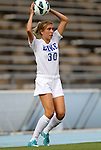 24 August 2012: Duke's Katie Colas. The Duke University Blue Devils defeated the University of Montreal Caribins 4-1 at Fetzer Field in Chapel Hill, North Carolina in an international women's collegiate friendly game.
