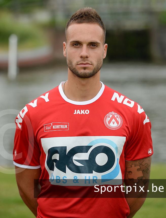 KV Kortrijk : Ploegfoto 2014 - 2015 <br /> Maxime Chanot <br /> foto VDB / BART VANDENBROUCKE