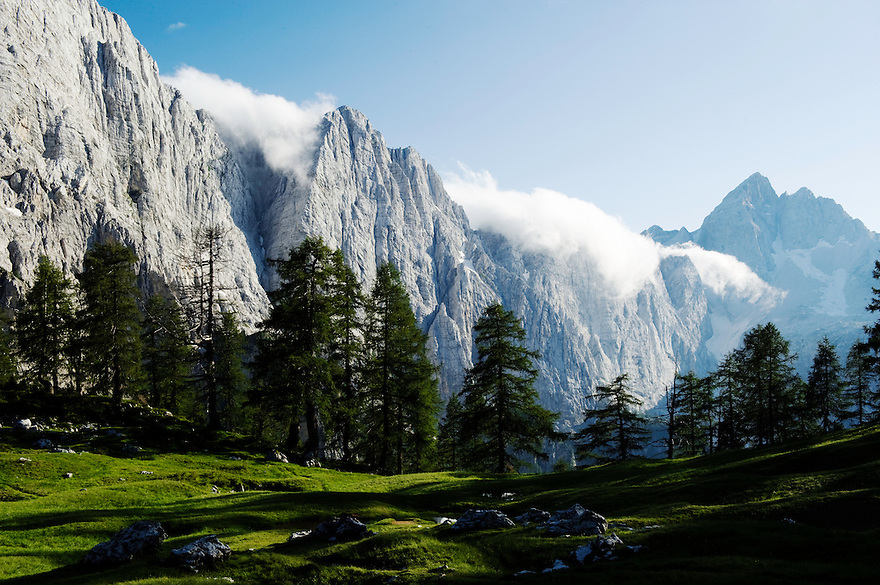Mount Jalovec, view from &quot;Sleme&quot;<br /> Julian Alps<br /> Triglav National Park, Slovenia<br /> July 2009