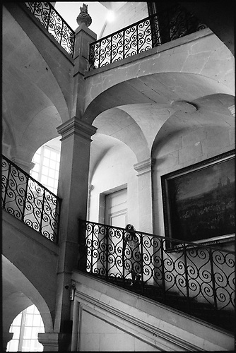 Girl on Staircase, Chateau of Ussé, France by Paul Cooklin
