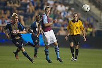 Gary Gardner of Aston Villa during a match between Aston Villa FC and Philadelphia Union at PPL Park in Chester, Pennsylvania, USA on Wednesday July 18, 2012. (photo - Mat Boyle)