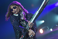American rock band Aerosmith, fronted by singer Steven Tyler, performs live, Sept. 16, 2010 at Rogers Place in Vancouver. (Scott Alexander/pressphotointl.com)