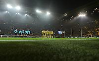 FUSSBALL   CHAMPIONS LEAGUE   SAISON 2012/2013   GRUPPENPHASE   Borussia Dortmund - Real Madrid                                 24.10.2012 Die Mannschaft von Borussia Mönchengladbach nimmt Aufstellung