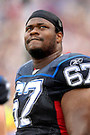 9 September 2007: Buffalo Bills offensive lineman Melvin Fowler looks on field from the bench during a game against the Denver Broncos at Ralph Wilson Stadium in Buffalo, NY. The Broncos defeated the Bills 15-14 in the opening day matchup...Mandatory Photo Credit: Ed Wolfstein Photo