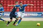 St Johnstone v Turriff Utd FC.. 02.08.16  IRN-BRU CUP 1st Round  <br />Connor McLaren is fouled by Leszek Nowosieski<br />Picture by Graeme Hart.<br />Copyright Perthshire Picture Agency<br />Tel: 01738 623350  Mobile: 07990 594431