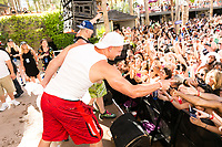 LAS VEGAS, NV - APRIL 29: Mojo Rawley and Rob Gronkowski at Rehab at The Hard Rock Hotel & Casino in Las Vegas, Nevada on April 29, 2017. Credit: GDP Photos/MediaPunch
