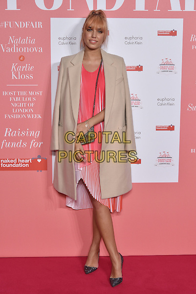 Amber Le Bon<br /> arrivals at London's Fabulous Fund Fair 2016 in aid of the Naked Heart Foundation at Old Billingsgate Market on 20th February 2016.<br /> CAP/PL<br /> &copy;Phil Loftus/Capital Pictures