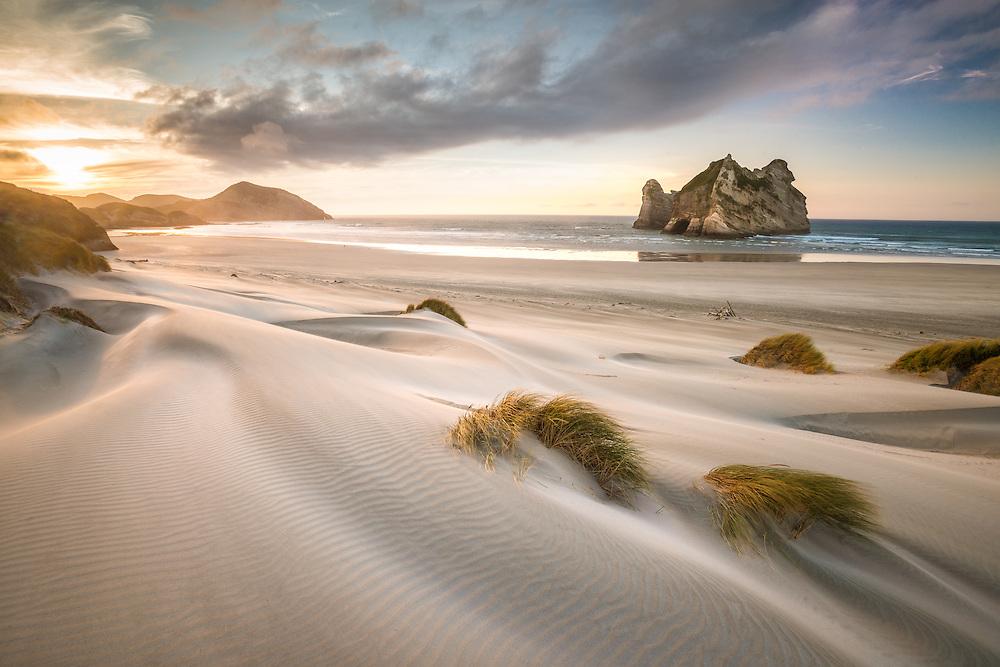 River of sand, Wharariki Beach Golden Bay