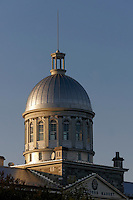 Dome of the Bonsecours Market building at sunset, Old Montreal, Quebec, Canada