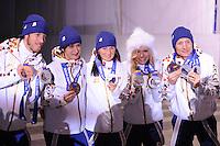 OLYMPICS: SOCHI: Medal Plaza, 20-02-2014, Ladies' 5000m, ©photo Martin de Jong
