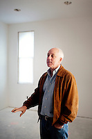 Walnut, California, February 4, 2011 - A portrait of Ken Campbell, CEO of Standard Pacific Homes, at the company's Three Oaks developments in Walnut (west of Los Angeles). Mr. Campbell came to StanPac, as the company in known in the industry, in 2008 with no home-building experience. StanPac is the only builder spending millions - some $500 million since mid 2009 - on raw, undeveloped land, betting that it will increase in value once the market returns.