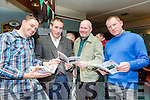 At the Na Gaeil Club Race Night fundraiser on Saturday were Phillip Dewey, Tim Lynch, Eddie Sheehy and Liam Kingston