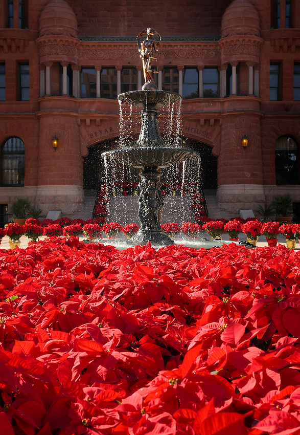 Image of the restored Lady Justice fountain located at the Bexar County Courthouse in San Antonio, Texas. (Darren Abate/pressphotointl.net)