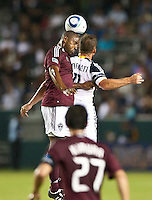 CARSON, CA – September 9, 2011: Colorado Rapid defender Marvell Wynne (22) and LA Galaxy forward Chad Barrett (11) during the match between LA Galaxy and Colorado Rapids at the Home Depot Center in Carson, California. Final score LA Galaxy 1, Colorado Rapids 0.