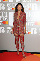 Nicole Scherzinger at The BRIT Awards 2017 at The O2, Peninsula Square, London on February 22nd 2017<br /> CAP/ROS<br /> &copy; Steve Ross/Capital Pictures /MediaPunch ***NORTH AND SOUTH AMERICAS ONLY***
