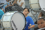 Shala Armstrong plays drums before Water Valley vs. J.Z. George in Homecoming football action in Water Valley, Miss. on Friday, September 10, 2010.