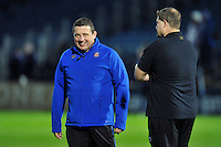 Bath Rugby first team coach Toby Booth looks on during the pre-match warm-up. European Rugby Champions Cup match, between Leinster Rugby and Bath Rugby on January 16, 2016 at the RDS Arena in Dublin, Republic of Ireland. Photo by: Patrick Khachfe / Onside Images