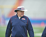 Ole Miss' head coach Houston Nutt at the  Grove Bowl in Oxford, Miss. on Saturday, April 16, 2011.