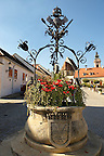 Well in the main square, Rust ( Hungarian: Ruszt ) on the Neusiedler See, Burgenland, Austria