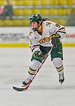 14 February 2015: University of Vermont Catamount Forward Dayna Colang, a Junior from Fairbanks, Alaska, in first period action against the University of New Hampshire Wildcats at Gutterson Fieldhouse in Burlington, Vermont. The Lady Catamounts rallied from a 3-1 deficit to earn a 3-3 tie in the final home game of their NCAA Hockey East season. Mandatory Credit: Ed Wolfstein Photo *** RAW (NEF) Image File Available ***