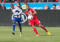 06 April 2013: Toronto FC midfielder Darel Russell #16 and FC Dallas defender/midfielder Jackson #6 in action during an MLS game between FC Dallas and Toronto FC at BMO Field in Toronto, Ontario Canada..The game ended in a 2-2 draw..