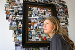JAMES BOARDMAN / 07967642437 - 01444 412089 .Make-up artist and facialist Nichola Joss in her second bedroom. A photographic montage of family snaps is seen on the wall... .