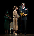 """London, UK. 26/03/2012. """"The King's Speech"""" opens at the Wyndhams Theatre, London. Picture shows:  Charlotte Randle (as Myrtle Logue), Emma Fielding (as Queen Elizabeth), Charles Edwards (as King George VI).  Photo credit: Jane Hobson"""