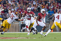 Stanford, CA - September 17, 2016: Bryce Love during the Stanford vs USC football game at Stanford Stadium. The Cardinal defeated the Trojans 27-10.