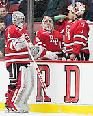 Jason Kasdorf (RPI - 33), Sam Goodman (RPI - 35), Cam Hackett (RPI - 1) - The Harvard University Crimson defeated the visiting Rensselaer Polytechnic Institute Engineers 5-2 in game 1 of their ECAC quarterfinal series on Friday, March 11, 2016, at Bright-Landry Hockey Center in Boston, Massachusetts.