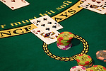 Nevada, Caesars Palace and Casino, gaming, gambling, chips, blackjack, betting, cards, NV, Las Vegas, Photo nv230-17938..Copyright: Lee Foster, www.fostertravel.com, 510-549-2202,lee@fostertravel.com