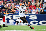 11 October 2009: Cleveland Browns' running back Jerome Harrison rushes for yardage against the Buffalo Bills at Ralph Wilson Stadium in Orchard Park, New York. The Browns defeated the Bills 6-3 for Cleveland's first win of the season...Mandatory Photo Credit: Ed Wolfstein Photo