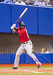 1 April 2016: Boston Red Sox outfielder Rusney Castillo in action during a pre-season exhibition series between the Toronto Blue Jays and the Boston Red Sox at Olympic Stadium in Montreal, Quebec, Canada. The Red Sox defeated the Blue Jays 4-2 in the first of two MLB weekend games, which saw an attendance of 52,682 at the former home on the Montreal Expos. Mandatory Credit: Ed Wolfstein Photo *** RAW (NEF) Image File Available ***