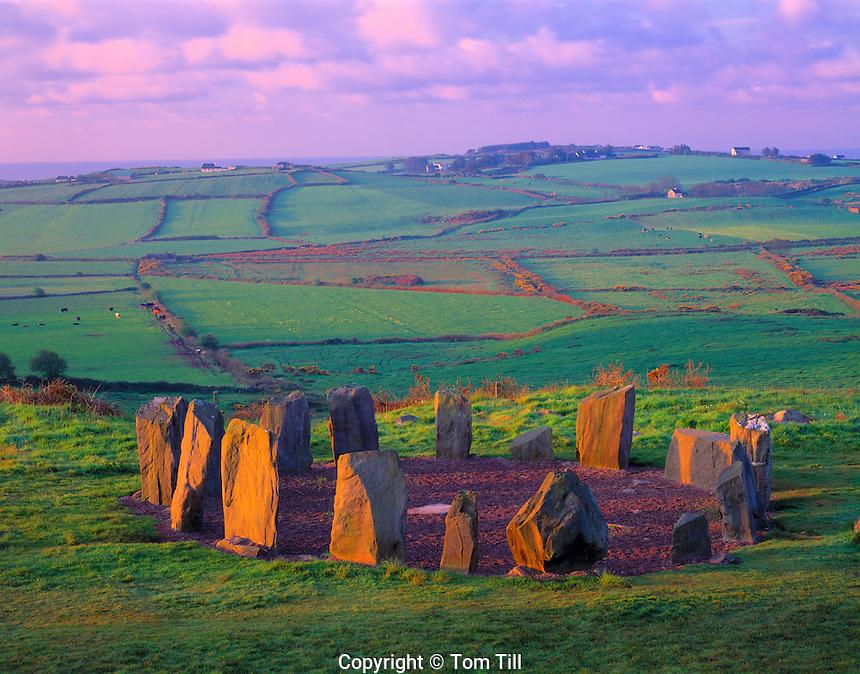Drombeg Stone Circle, County Cork, Republic of Ireland      Stone alignment from 1,000 bc  West Cork Region