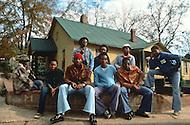 December 1976. Plains, Georgia. Poor black families of Plains enjoying outdoor activities.