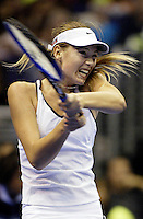 14 November 2004:  Maria Sharapova (RUS) defeated Anastasia Myskina (RUS) 2-6, 6-2, 6-2 on day 5  in the Semi-Finals of the WTA Tour Championships at the Staples Center in Los Angeles, CA.