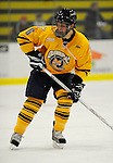 29 December 2007: Quinnipiac University Bobcats' defenseman Andrew Meyer, a Junior from St. Louis, Missouri, in action against the Western Michigan University Broncos at Gutterson Fieldhouse in Burlington, Vermont. The Bobcats defeated the Broncos 2-1 in the first game of the Sheraton/TD Banknorth Catamount Cup Tournament...Mandatory Photo Credit: Ed Wolfstein Photo