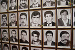 Photos of missing soldiers from the war over Nagorno-Karabakh are displayed in a museum on August 31, 2006 in Stepanakert, Nagorno-Karabakh.