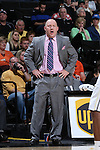 28 February 2016: Virginia Tech head coach Buzz Williams. The Wake Forest University Demon Deacons hosted the Virginia Tech Hokies at Lawrence Joel Veterans Memorial Coliseum in Winston-Salem, North Carolina in a 2015-16 NCAA Division I Men's Basketball game. Virginia Tech won the game 81-74.