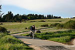 Bicyclist on trail at UCSC
