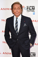 LONDON, UK. October 14, 2016: Valentino at the London Film Festival 2016 premiere of &quot;Nocturnal Animals&quot; at the Odeon Leicester Square, London.<br /> Picture: Steve Vas/Featureflash/SilverHub 0208 004 5359/ 07711 972644 Editors@silverhubmedia.com