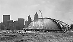 Pittsburgh PA: Pittsburgh's Civic Arena Construction - 1960-61.  On location photography for the Civic Light Opera,  the building's primary tenant. Pittsburgh Mayor Joseph M. Barr and Hornets owner John Harris (founder of the Ice Capades) made the skating show the feature act of the Civic Arena's grand opening on September 19, 1961.