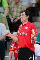 Trainer Velimir Petkovic (FAG) freut sich am Spielfeldrand