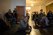 Durham, North Carolina - Thursday May 19, 2016 - Audience members listen to Antenes' performance in The Carrack Thursday night at Moogfest in Durham.