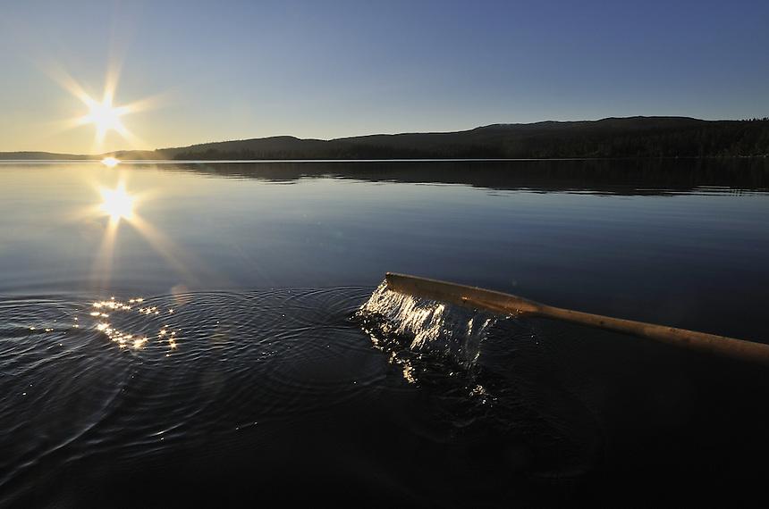 Rowing on summer lake,Norway Home decor, Trond Are Berge Landscape, landskap,