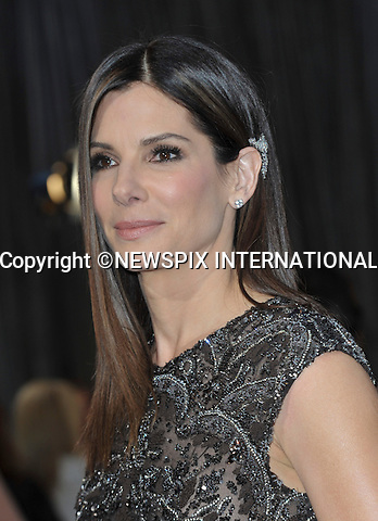 """SANDRA BULLOCK..Red Carpet arrival for the 85th Annual Academy Awards, Dolby Theatre, Hollywood, Los Angeles_23/02/2013.Mandatory Photo Credit: ©Dias/Newspix International..**ALL FEES PAYABLE TO: """"NEWSPIX INTERNATIONAL""""**..PHOTO CREDIT MANDATORY!!: NEWSPIX INTERNATIONAL(Failure to credit will incur a surcharge of 100% of reproduction fees)..IMMEDIATE CONFIRMATION OF USAGE REQUIRED:.Newspix International, 31 Chinnery Hill, Bishop's Stortford, ENGLAND CM23 3PS.Tel:+441279 324672  ; Fax: +441279656877.Mobile:  0777568 1153.e-mail: info@newspixinternational.co.uk"""